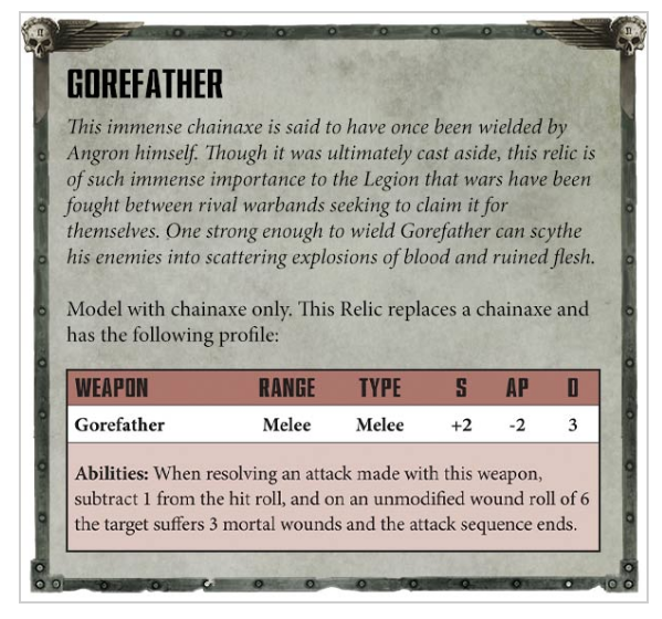 New Faith & Fury Rules Revealed - Chaos Space Marines