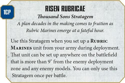 Thousand Sons Tactics