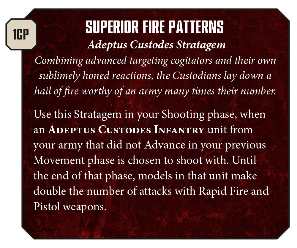 New Custodes Preview