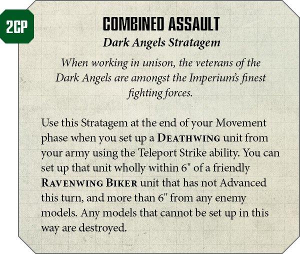 Dark Angels' Combo