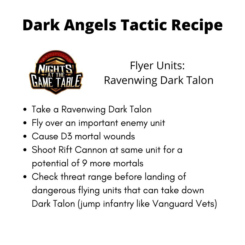 Dark Angels Tactics