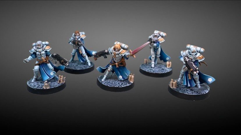 sisters of battle painted minis