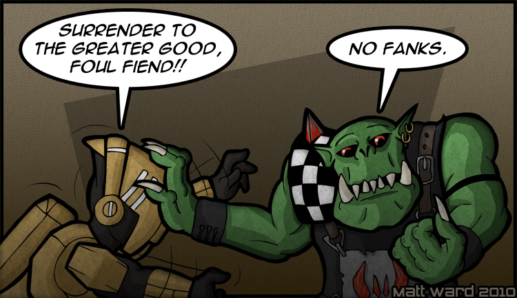 iron halo con orks never die